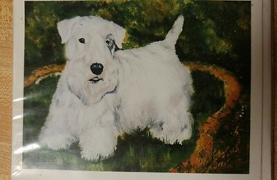 Dog Breed Note Cards Set of 4 SEALYHAM TERRIER