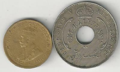 xx From Accumulation - 2 COINS..BRITISH WEST AFRICA..1/2 & 6 PENCE..BOTH 1920KN