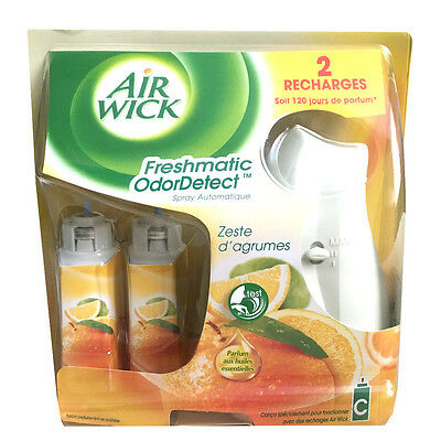 Air Wick Airwick Freshmatic Compact Machine 2 Refills Citrus Automatic Freshner