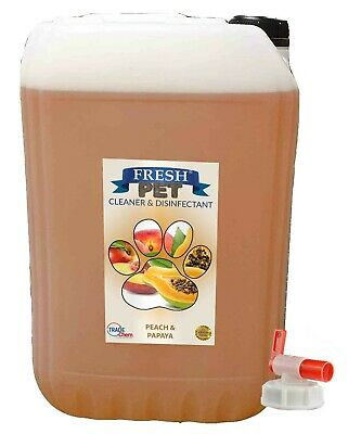 25L FRESH PET Kennel Dog / Cat Disinfectant, Cleaner - Peach & Papaya inc TAP