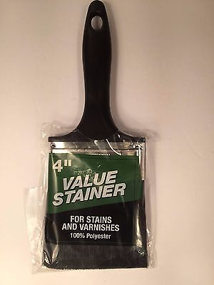 "Staining Brush 4"" - Value Stainer For Stains and Varnishes"