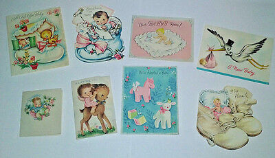 Vintage Baby Gift Enclosure Cards, Adoption & Announcements: 1950's *Used*