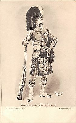 POSTCARD  MILITARY     Colour  Sergeant    93rd   Highlanders