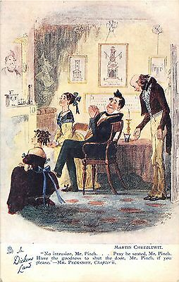 POSTCARD   IN   DICKENS  LAND     Martin  Chuzzlewit  IV     TUCK