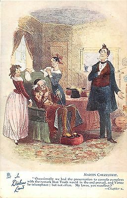 POSTCARD   IN   DICKENS  LAND     Martin  Chuzzlewit       TUCK