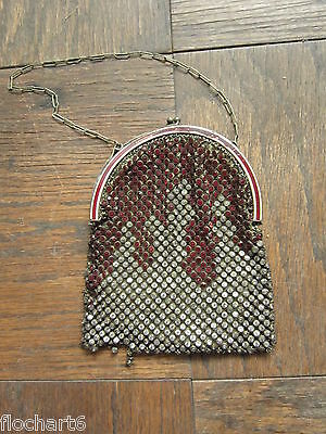 1920s ~ Women's Rhinestone Purse ~ Made In France