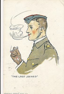 POSTCARD  MILITARY    The  Last  Joined