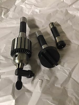"1/2"" Drill Chuck, Fly Cutter, R8 Adapter W/ MT2 Adapter ID"