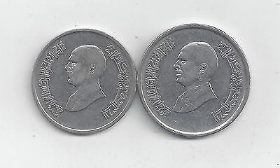 2 COINS from JORDAN - 5 & 10 PIASTRES (BOTH DATING 1996)