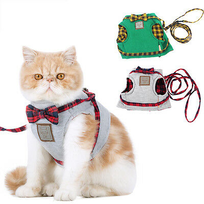 Pet Cat Walking Harness and Leash Kitty Clothes Small Puppy Harness Vest Jacket