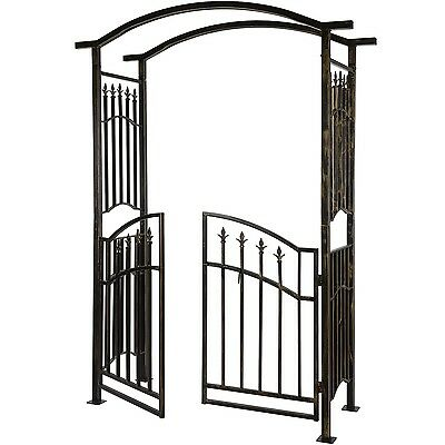 Pergola Archway Gate Rose Growth Support Climbing Trellis Rank Arc Garden