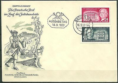 DDR FDC MiNr. 382-383 (Baumeister)