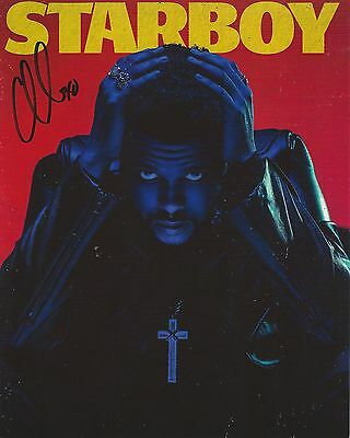 The Weeknd STARBOY Hand Signed Autographed 8x10 Color Photo Poster