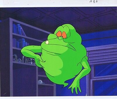 The Real Ghostbusters Original Production Animation Cel & Copy Bkgd #A17706
