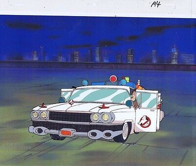 The Real Ghostbusters Original Production Animation Cel & Copy Bkgd #A17708