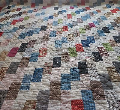 Antique/Vintage Hand Stitched Patchwork Quilt~ 70 by 86~ Cutter