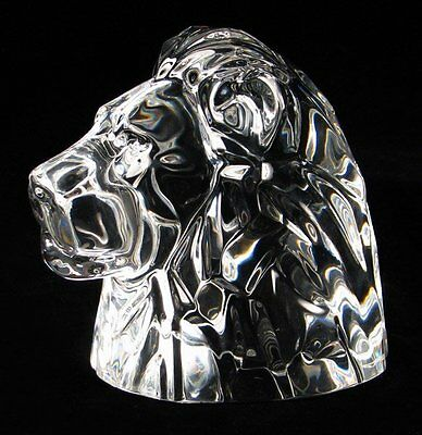 Baccarat Crystal Lion Head
