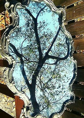 Antique Pewter Mirror~Gothic Style~ Beautiful!!