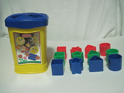 Fisher Price Shape Sorter 12 Shapes Complete Set Educational Baby Toddler Toy