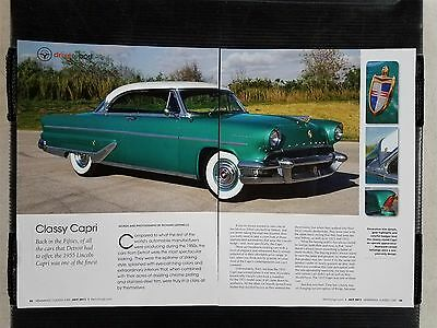 1955 Lincoln Capri - 6 Page Article - Free Shipping