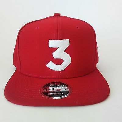 New Chance 3 Hat Cap The Rapper 9FIFTY Dad red Hat NEW ERA FLAT BRIM  snapback 0ad7b39b3db