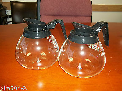 Coffee Pot Decanter for Bunn 64oz. Commercial Case of 2 Glass Coffee Pots