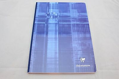 """Clairefontaine Cloth Bound Notebook  8"""" X 11"""" Lined Blue"""