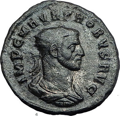 Probus  receiving globe from Jupiter 276AD Genuine Ancient  Roman Coin i60133