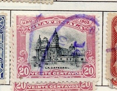 Guatemala 1902 Early Issue Fine Used 20c. 139644