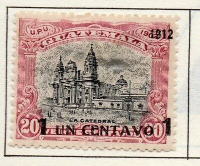 Guatemala 1902-22 Early Issue Fine Mint Hinged 1c. Surcharged Optd 139659