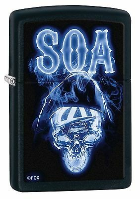 Zippo Windproof Sons of Anarchy Skull Lighter, SOA, 29317, New In Box