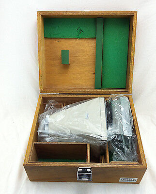 Olympus Polaroid Microscope Camera Film Adapter; in wooden box