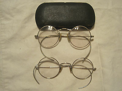 2 Pairs Of Vintage/Antique Spectacles & Case Gold Fill