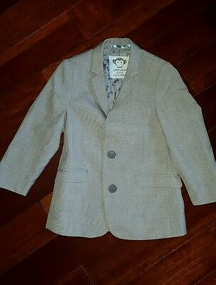 Appaman  Nordstrom Boys Gray Suit Jacket Size 4 party holidays formal gorgeous