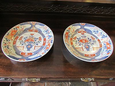 Pair of Japanese Imari Dishes c.1780-1800