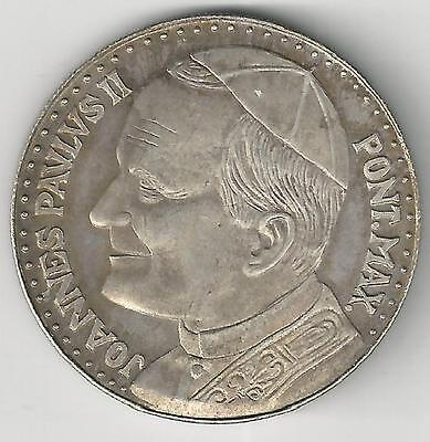 xx From Accumulation - A LARGE SILVER MEDAL w/ JOHN PAUL...the VATICAN...Lot #6