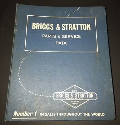 1966 Briggs & Stratton Parts & Service Data Catalog 4 Cycle Gasoline Engines