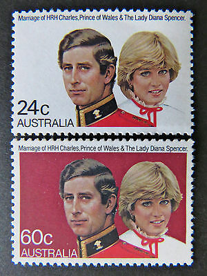 Australian Decimal Stamps:1981 Royal Wedding Charles & Diana - Set of 2 MNH
