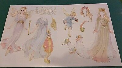 "Titania paper doll by Helen Page about 25 +yrs ago.LE Print.17"" x 10 1/2""Lovely!"