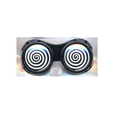 Black Round X-Ray Vision Glasses X Ray Specs Goggles Hypnotize Wonka Adult