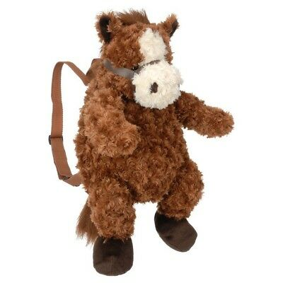 Tough-1 Backpack Toy Soft Plush Horse Adjustable Zip Pouch Tan 87-8863
