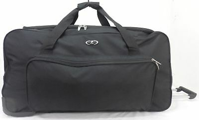 "XXL 30"" 34"" Wheeled Holdall Travel Luggage Trolley Case Suitcase Duffel Bag"