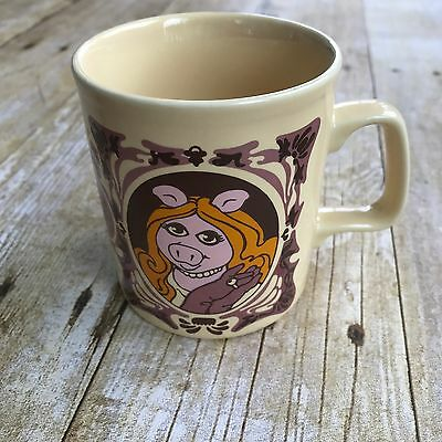 Vintage 1978 MISS PIGGY The Muppet Show Coffee Cup Tea Mug Jim Henson Muppets