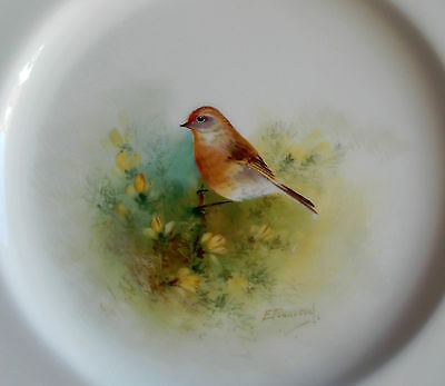 Royal Worcester Plate - Linnet - Songbird - Hand Painted by Edward Townsend