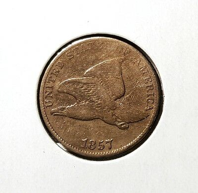 1857 Flying Eagle cent - Fine - nice type coin - strong date