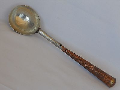 Tibetan Chinese Antique Silver Copper Medicine Apothecary Pharmacy Spoon