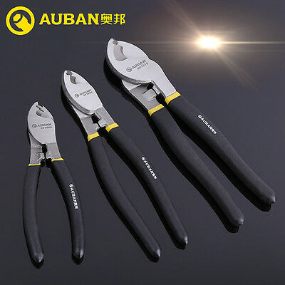 """AUBAN 6"""" 8"""" 10"""" Cable Fencing Cutter Stripper for Electricians Copper Wire Plier"""