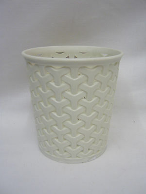 New Curver My Style Small Round Mini Waste Bin Storage Pot Plastic Cream