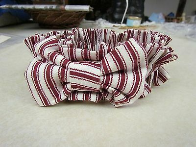 Longaberger Small Garter:  Red Ticking with Bow ~ New!