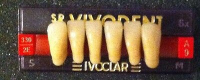 Ivoclar SR Vivodent  Plastic Dentist Dental Lab Denture teeth    A9   2E